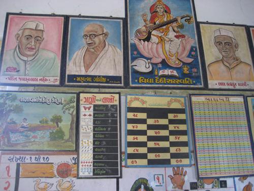 The classroom wall display