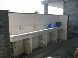Outdoor washing facilities