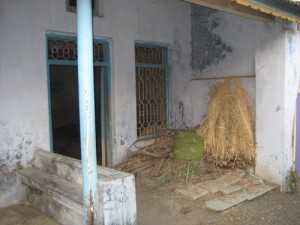 tha cowshed is often attached to the house