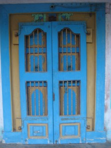 old-style front door